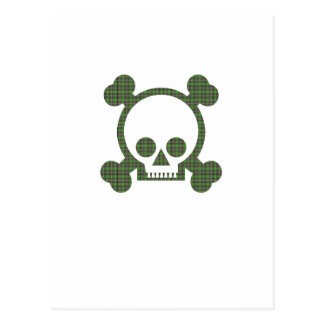 Green Skull Postcard