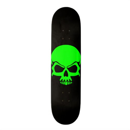 Green Skull Skateboard
