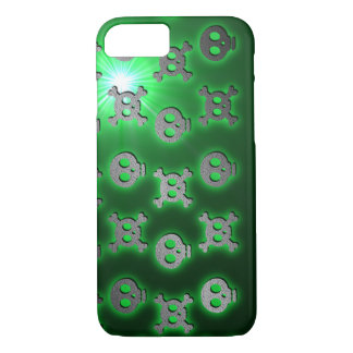 Green Skull Skip iPhone 7 Case
