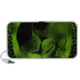 Green Skull Notebook Speaker
