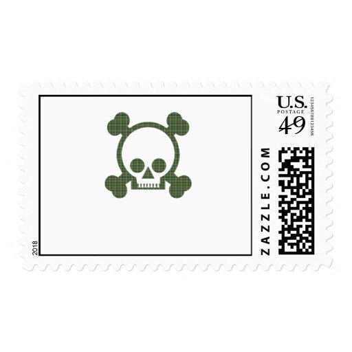 Green Skull Stamps