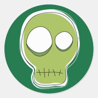 Green Skull Sticker/Green Background