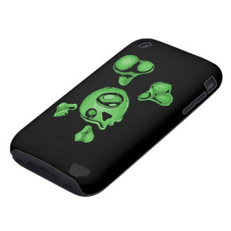 Green Skull Tough iPhone 3 Covers
