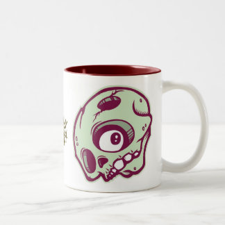 Green Skull Two-Tone Coffee Mug