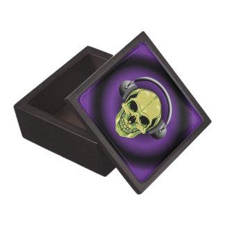 Green Skull with Headphones Premium Gift Boxes