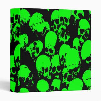 Green Skulls Binder