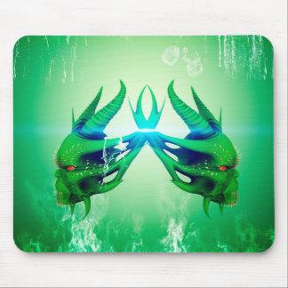 Green skulls mousepad