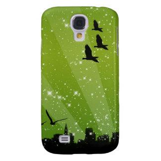 green sky birds iphone 3 case