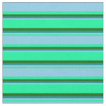 [ Thumbnail: Green, Sky Blue, Dark Cyan, and Dark Green Colored Fabric ]