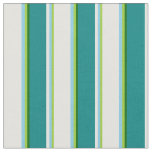 [ Thumbnail: Green, Sky Blue, Light Cyan, Teal & Dark Green Fabric ]