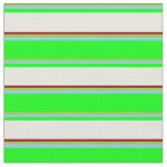 [ Thumbnail: Green, Sky Blue, Lime, Beige, and Dark Red Colored Fabric ]