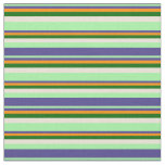 [ Thumbnail: Green, Slate Blue, Dark Orange, Dark Green, Bisque Fabric ]