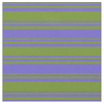 [ Thumbnail: Green & Slate Blue Pattern Fabric ]