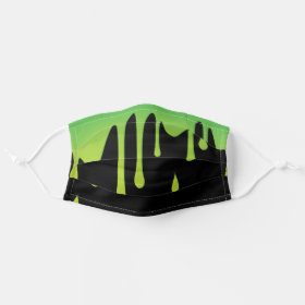 Green Slime Halloween Cloth Face Mask