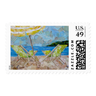 Green Sling Chairs postage stamps