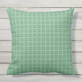 Green small clover pattern outdoors throw pillow