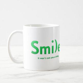Green Smile Ascii Text Mug