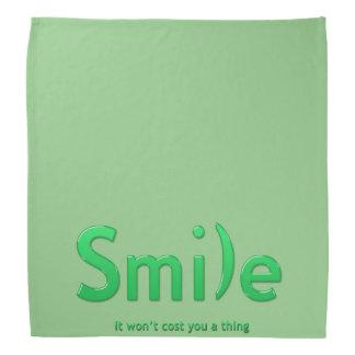 Green Smile Ascii TextBandana Bandana