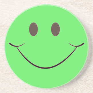 Green Smile Drink Coasters