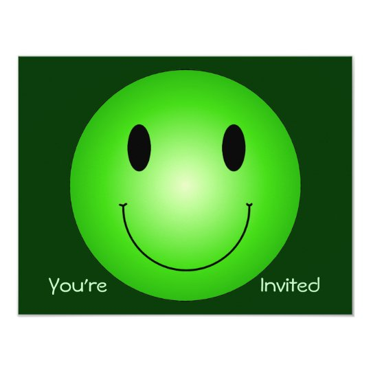 Green Smiley Card