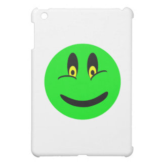Green Smiley Face Case For The iPad Mini