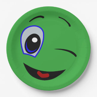 green smiley plates zazzle