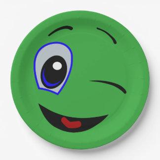 green smiley plates zazzle