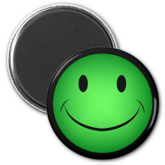 Green Smiley Face Magnet