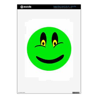 Green Smiley Face iPad 3 Skin