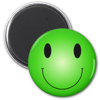 Green Smiley Magnet