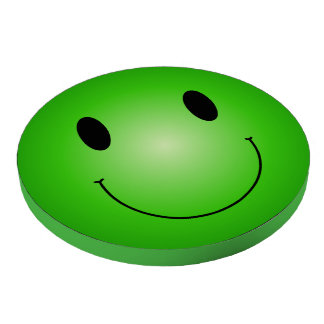 Green Smiley Set Of Poker Chips
