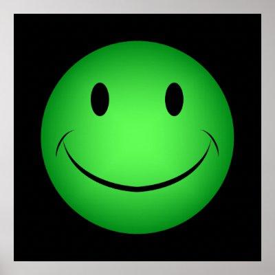 http://rlv.zcache.com/green_smiley_poster-p228958252570633371trma_400.jpg