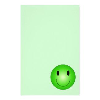 Green Smiley Stationery