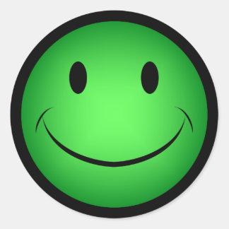 Green Smiley Sticker