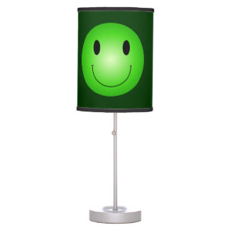 Green Smiley Table Lamp