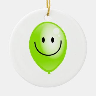 Green Smilie Balloon Christmas Tree Ornaments