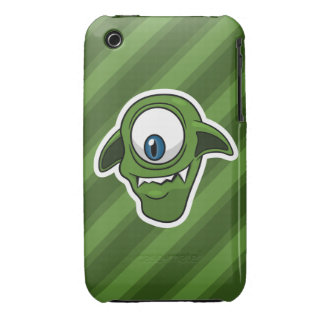 Green Smiling Alien iPhone 3 Covers