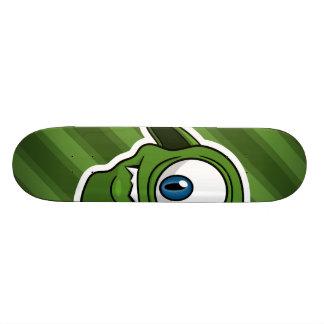 Green Smiling Alien Skate Decks