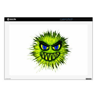 Green Smiling Monster Decal For Laptop