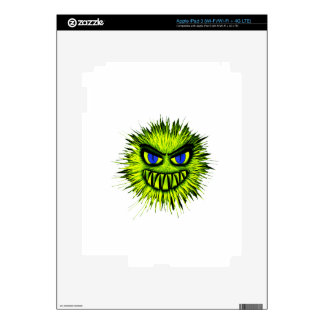 Green Smiling Monster iPad 3 Decals