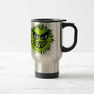 Green Smiling Monster Travel Mug
