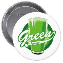 artsprojekt, green smoothie, detox, smoothie, healthy, green, juicing, diet, Button with custom graphic design