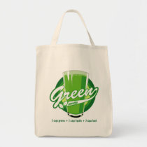 artsprojekt, green smoothie, healthy lifestyle, detox, juice cleanse, Bag with custom graphic design