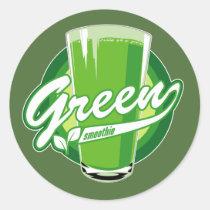 artsprojekt, green smoothie, green smoothie logo, Sticker with custom graphic design