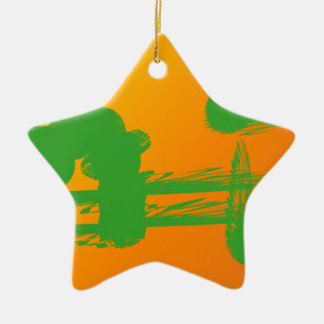green smudges in orange christmas tree ornaments
