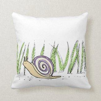 Green Snail Pillow