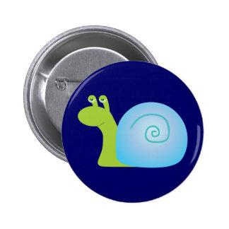 Green Snail Pinback Button