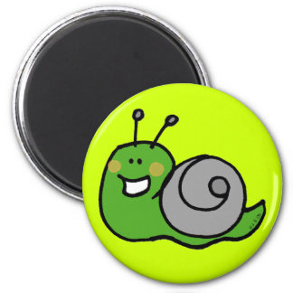 Green snail refrigerator magnets