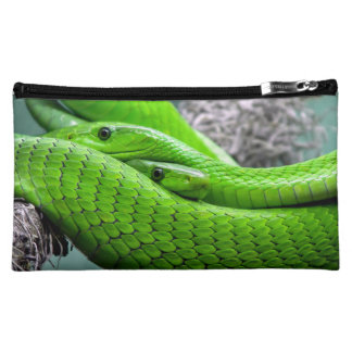 Green Snake Makeup Bag