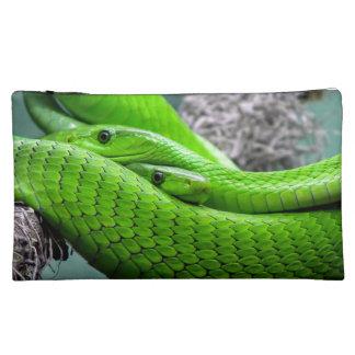 Green Snake Cosmetics Bags